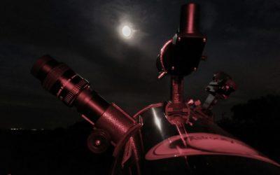 Así fue la observación nocturna a simple vista y con telescopios