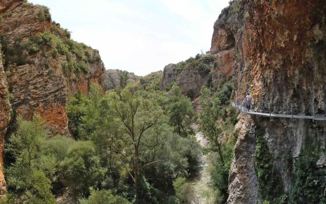 Entradas a la ruta de las pasarelas de Alquézar
