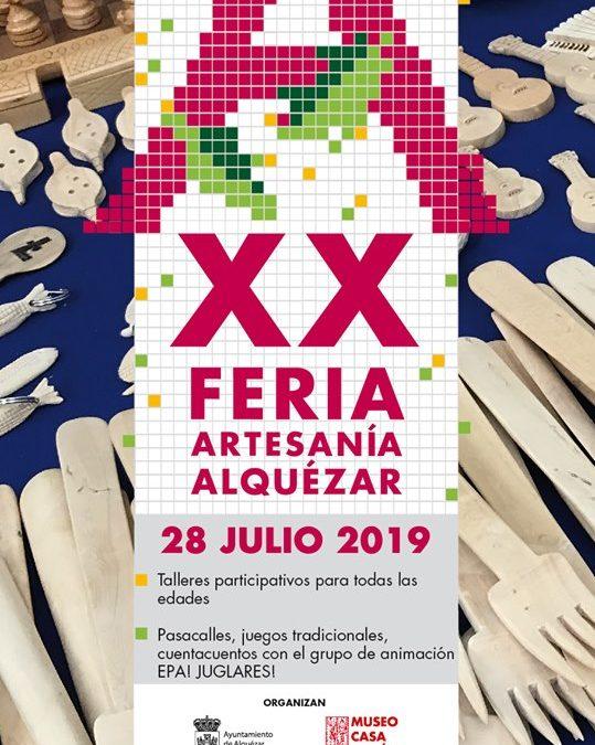 Feria de Artesanía en Alquézar, domingo 28 de julio
