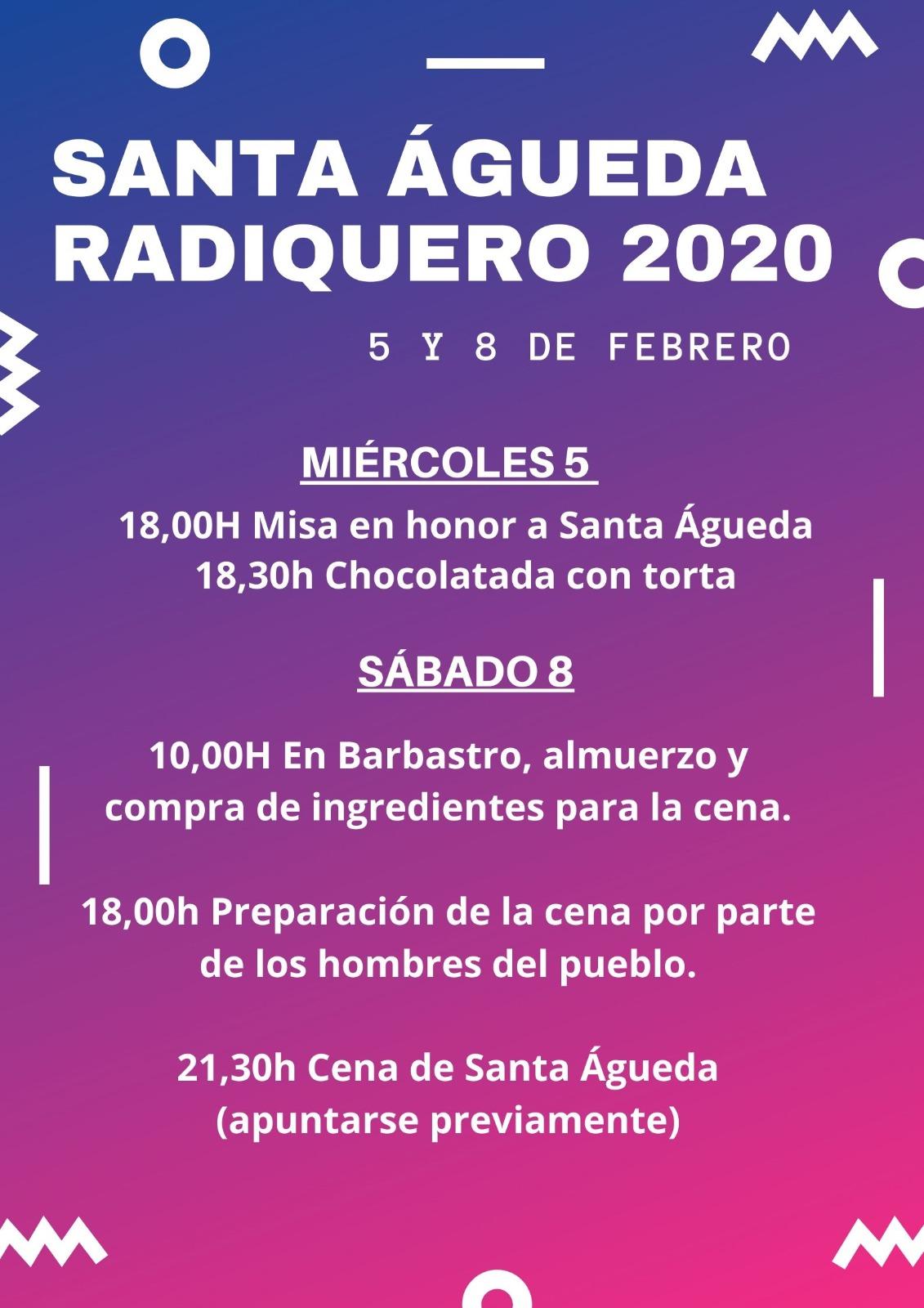 Cartel San Águeda 2020